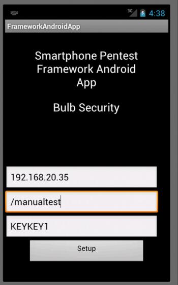 Smartphone Pentest Framework – Bulb Security